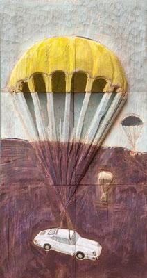 Manna, 2012, Pappel + Acryl, ca. 84 x 44,5 x 8 cm
