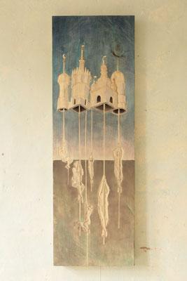 Seilschaft (incl. Rahmen) 2017 Linde ca. 120 x 40 x 6 cm