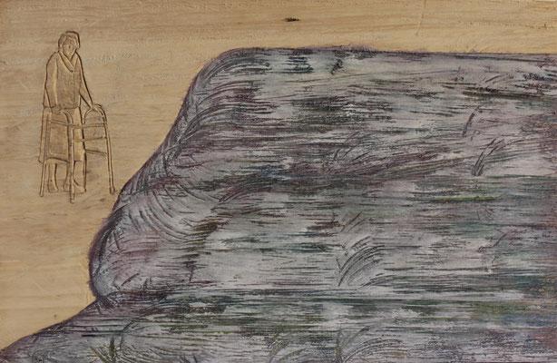 Seestück 2015 Pappelholz 32 x 50 x 4 cm