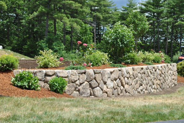 Terracing and leveling a sloping garden services and diy tips natural stone retaining wall workwithnaturefo