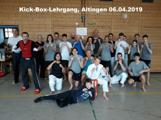 Kick-Box-Lehrgang, Poltringen 06.04.2019