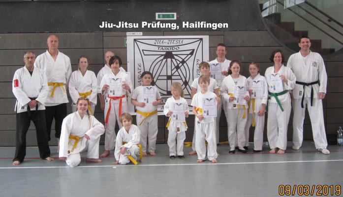 Jiu-Jitsu Prüfung, Hailfingen 09.03.2019