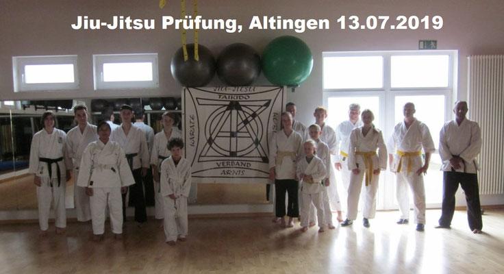Jiu-Jitsu Prüfung, Altingen 13.07.2019