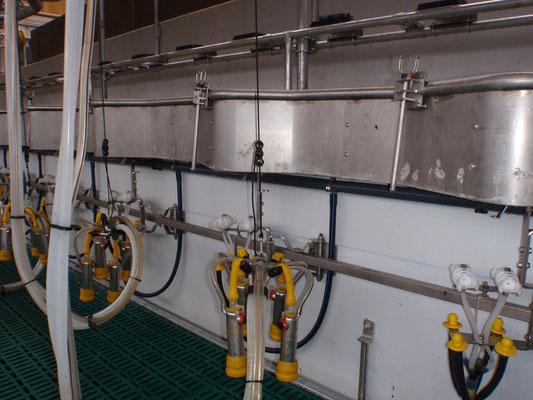 Biomilker Melkzeuge mit den zugehörigen Spülaufnahmen