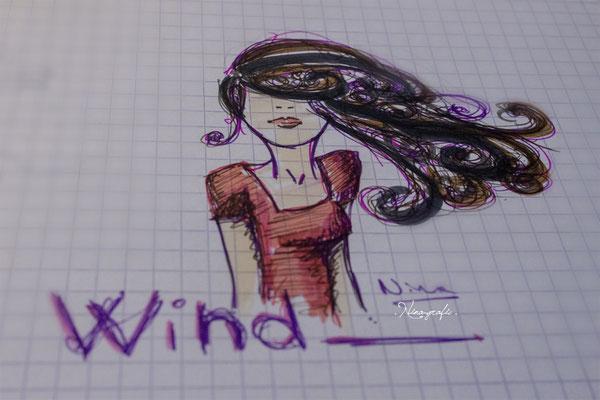 Recherche graphique 'cheveux dans le vent'