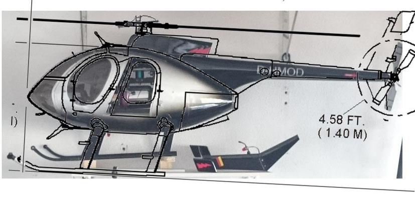Vario Hughes 500E Ausrichtung neu