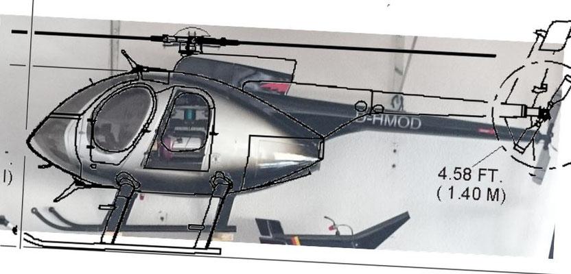 Vario Hughes 500E Ausrichtung alt