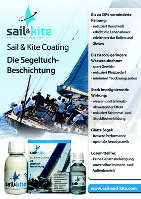 Nanoprotect Sail & Kite Coating -Flyer Frontseite