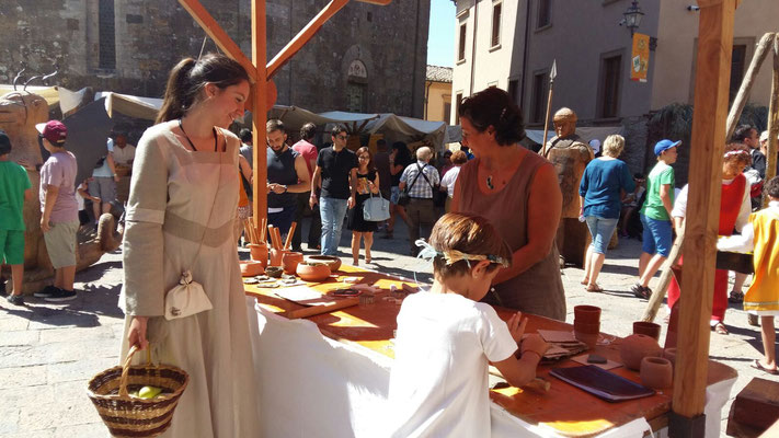 Volterra medievale. Agosto 2016.