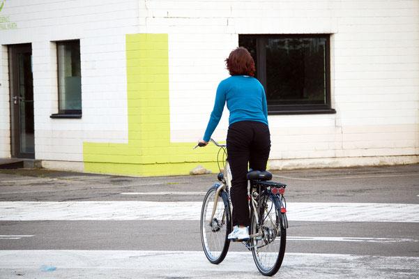 und stehend auf'm 26 Zoll Rad - Foto Christian Burmeister