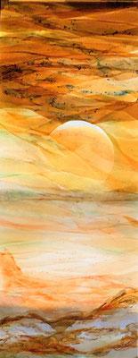 Sonnenaufgang | Glasarbeit in Fusiontechnik | ca 70 x 180 cm, 2019