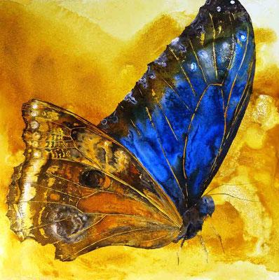 Blue Monk, 2014, 70 x 70 cm, Mischtechnik auf Leinwand