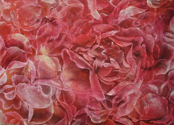 Rosenhaufen, 2016, 100 x 140 cm, Mischtechnik auf Leinwand