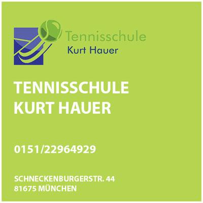 Tennisschule Kurt Hauer  Schneckenburgerstr. 44  81675 München
