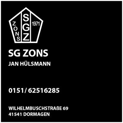 SG Zons  Jan Hülsmann     Sportgemeinschaft ZONS 1971 e.V.     Wilhelmbuschstraße 69  41541 Dormagen