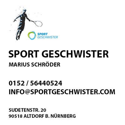 SportGeschwister  Marius Schröder    Sudetenstr. 20  90518 Altdorf b. Nürnberg