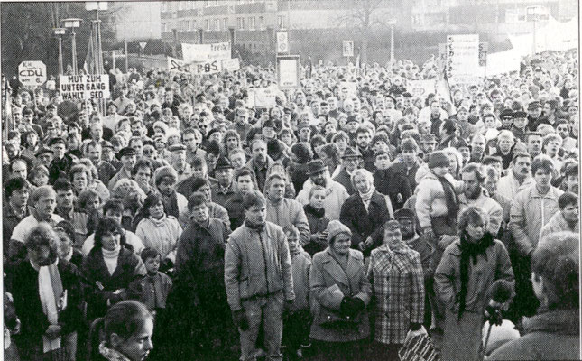 Von Norbert Hundt initiierten Kundgebung zur Gründung der SDP