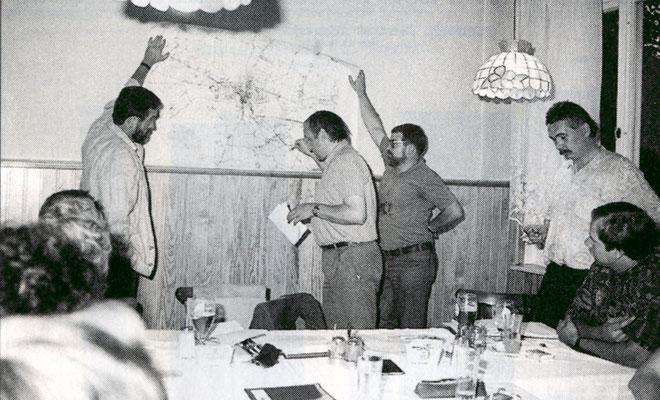 Diskussion im Ortsverein über das Verkehrskonzept 1991