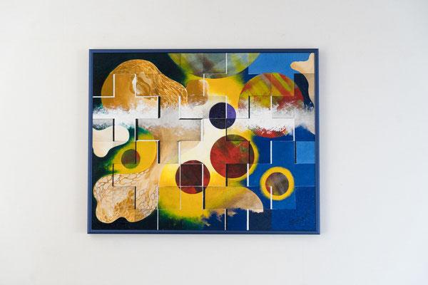 Planeten | 40 x 50 cm | Acryl auf Leinwand