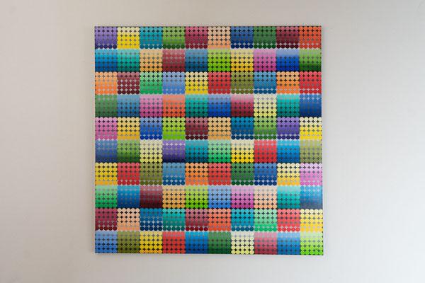 Vielecke | 90 x 90 cm | Acryl auf Leinwand