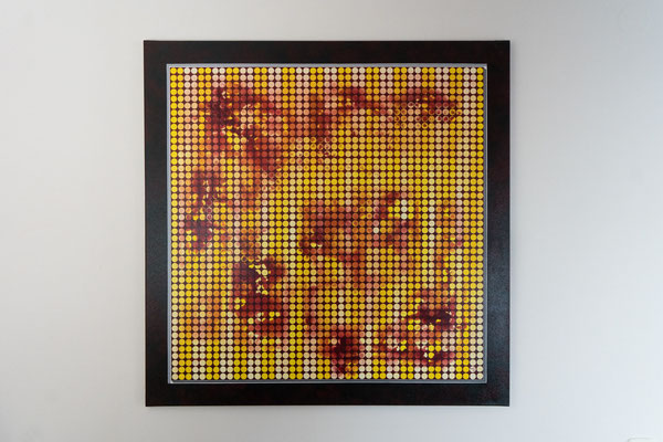 Punkt 2 | 100 x 100 cm | Acryl auf Leinwand