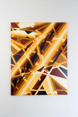 Geraden | 90 x 70 cm | Acryl auf Leinwand