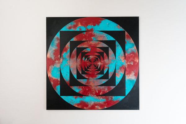 Tiefe 4 | 90 x 90 cm | Acryl auf Leinwand