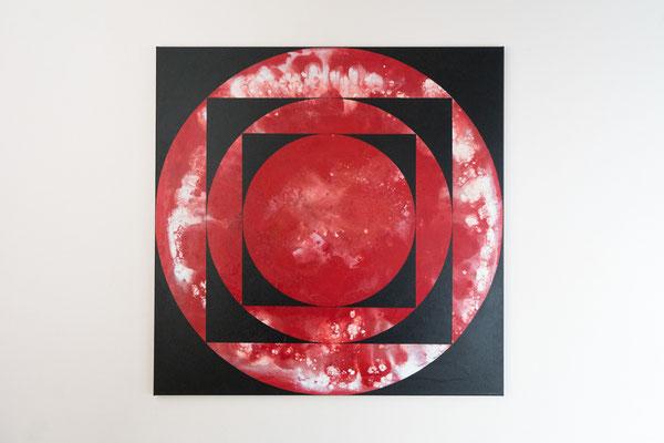 Tiefe 1 | 90 x 90 cm | Acryl auf Leinwand