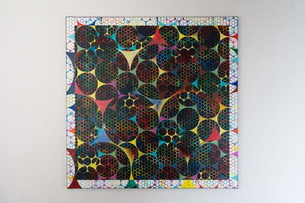 Punkt 4 | 100 x 100 cm | Acryl auf Leinwand