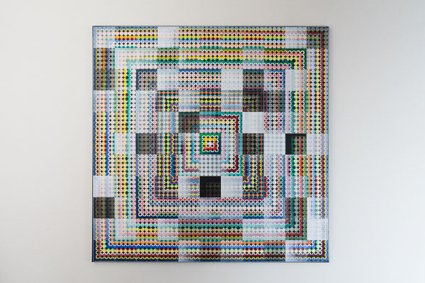 Punkt 3 | 100 x 100 cm | Acryl auf Leinwand