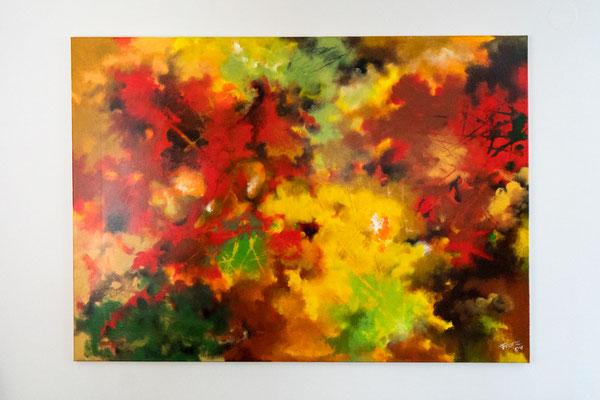 Herbstlaub | 100 x 140 cm | Acryl auf Leinwand