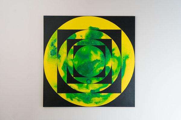 Tiefe 2 | 90 x 90 cm | Acryl auf Leinwand