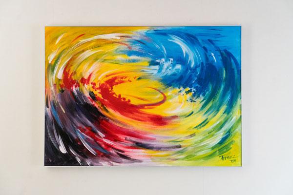 Schwung | 50 x 70 cm | Acryl auf Leinwand