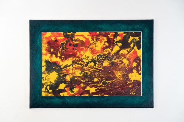 Im Erdinneren | 50 x 70 cm | Acryl auf Leinwand