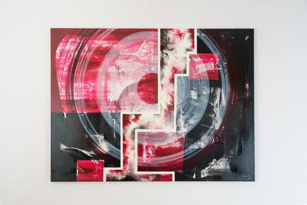 Durchtrennt | 75 x 100 cm | Acryl auf Leinwand