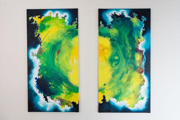 Geteilt | 100 x 100 cm | Acryl auf Leinwand