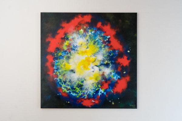 Weit weg | 80 x 80 cm | Acryl auf Leinwand