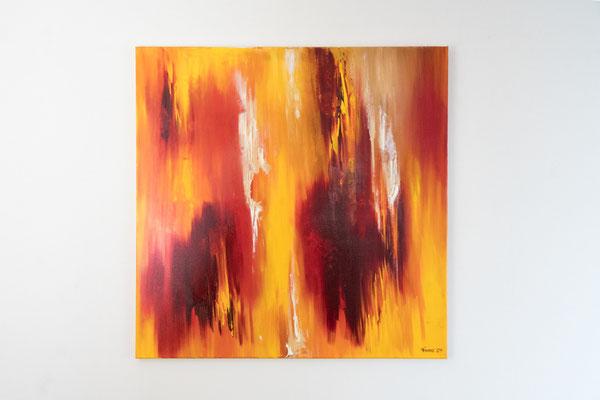 Flammen | 80 x 80 cm | Acryl auf Leinwand