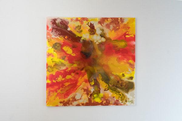 Der Ausbruch | 80 x 80 cm | Acryl auf Leinwand