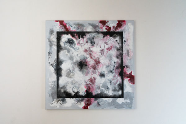 Gerahmt | 80 x 80 cm | Acryl auf Leinwand