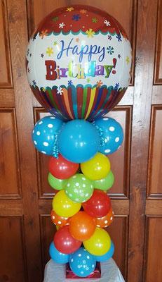 Air-Filled Balloon Centerpiece ORBZ Birthday