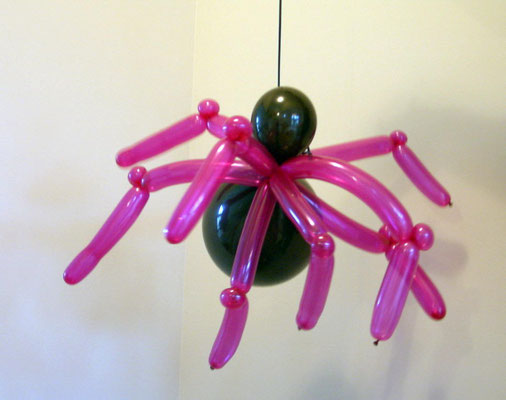 Air-Filled Spider Balloon Halloween