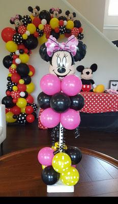 Air-Filled Balloon Centerpiece Minnie