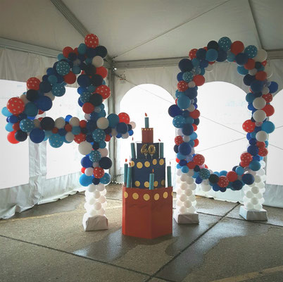 Air-Filled Balloon Sculpture 40 4 0 Birthday Anniversary