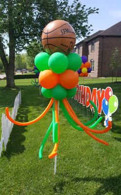 Air-filled balloon cloud lawn outdoor