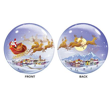 Bubble Balloon Santa Reindeer Christmas