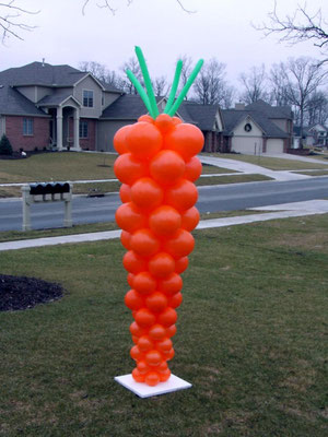 Air-Filled Balloon Easter Carrot Column