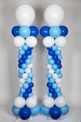 """Air-Filled Balloon Column Matching Spiral Wedding Formal 5"""" 11"""""""
