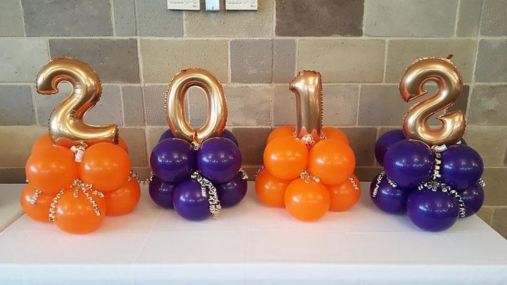 Air-Filled Balloon Centerpiece Year Graduation