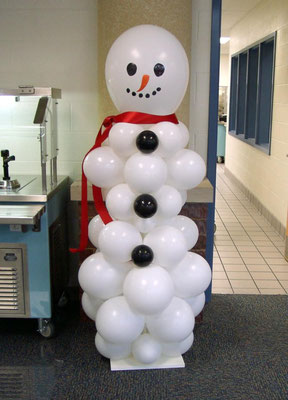 Air-Filled Snowman Balloon Column Christmas Holiday Xmas